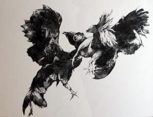 Haleh Zahedi - Fusain sur papier - 70x50cm - 2013