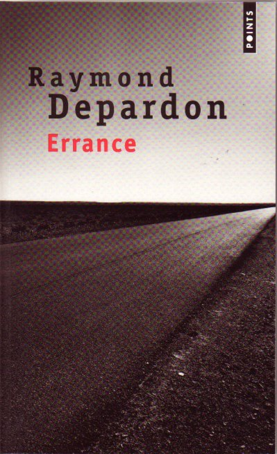 Raymond Depardon, page de couverture, Errance.