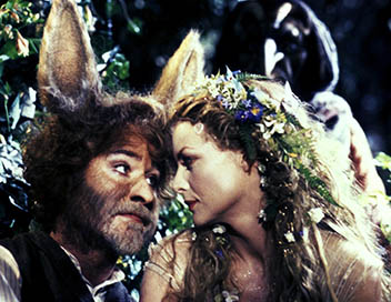 """""""Le Songe d'une nuit d'été"""" de Michael Hoffman: les personnages d'Obéron et Titania, 1999."""