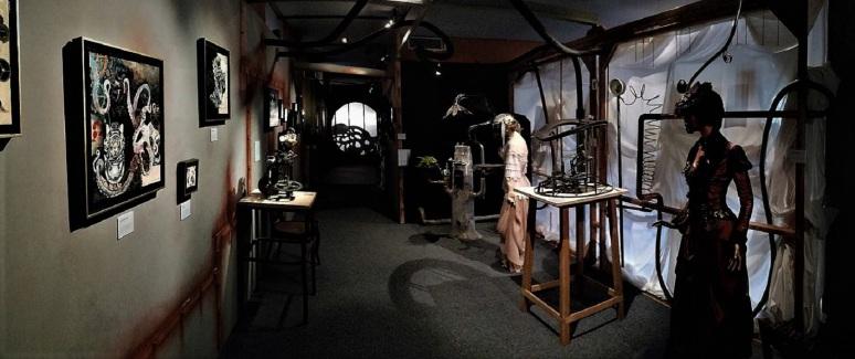 Conclusion contemporaine et steampunk de l'exposition - Expédition Jules Verne - Musée textile parc de Wesserling