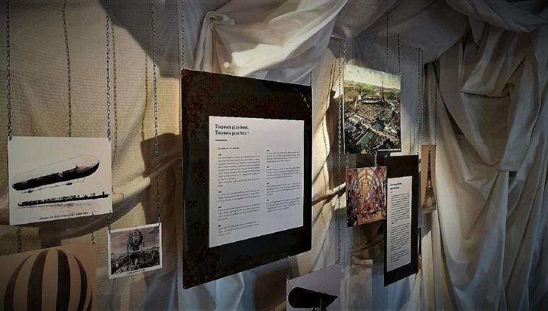 """Une des salles de l'exposition """"Expédition Jules Verne"""" - Musée textile parc de Wesserling - Photo©Margot Fache"""