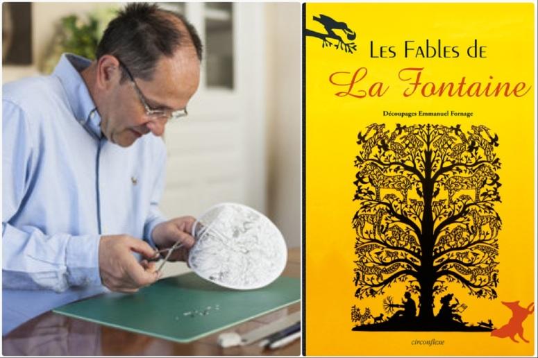 Emmanuel Fornage ©Olivier Frajman - Couverture des Fables de La Fontaine, Circonflexe, 2013.