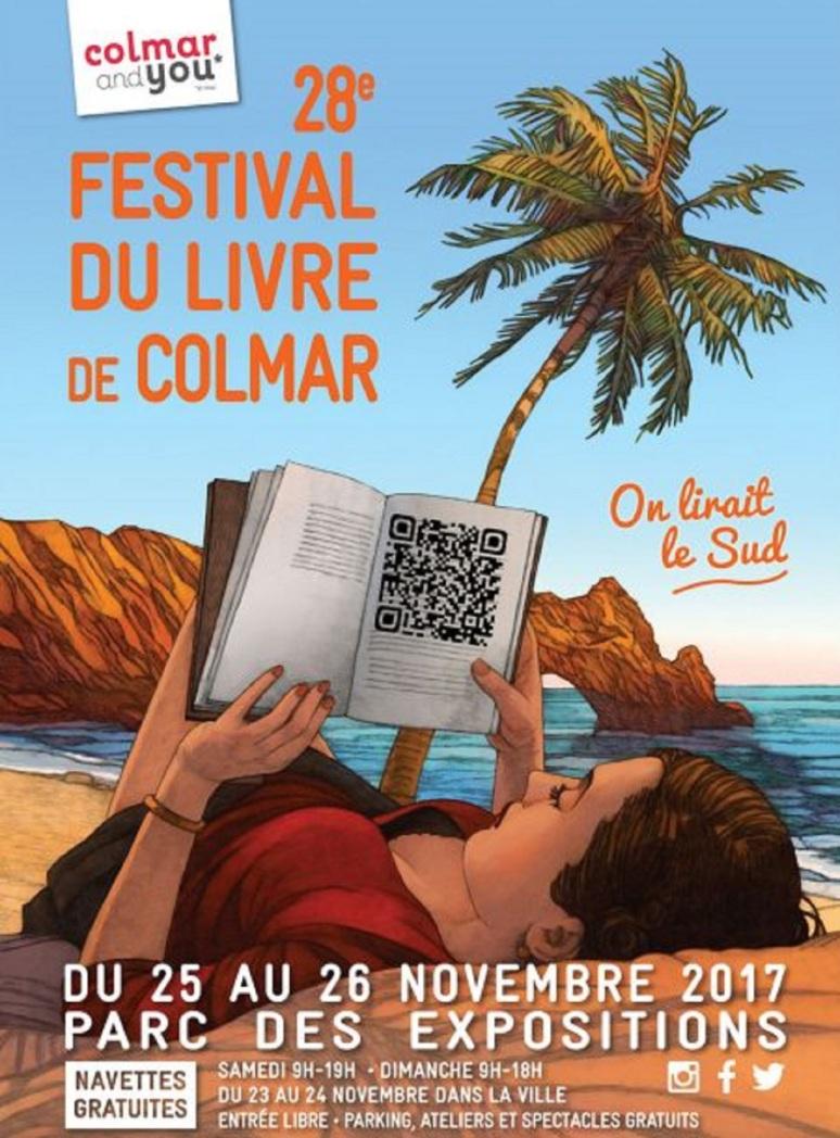 Miles Hyman, On lirait le sud - illustration pour l'affiche du 28e Festival du livre de Colmar