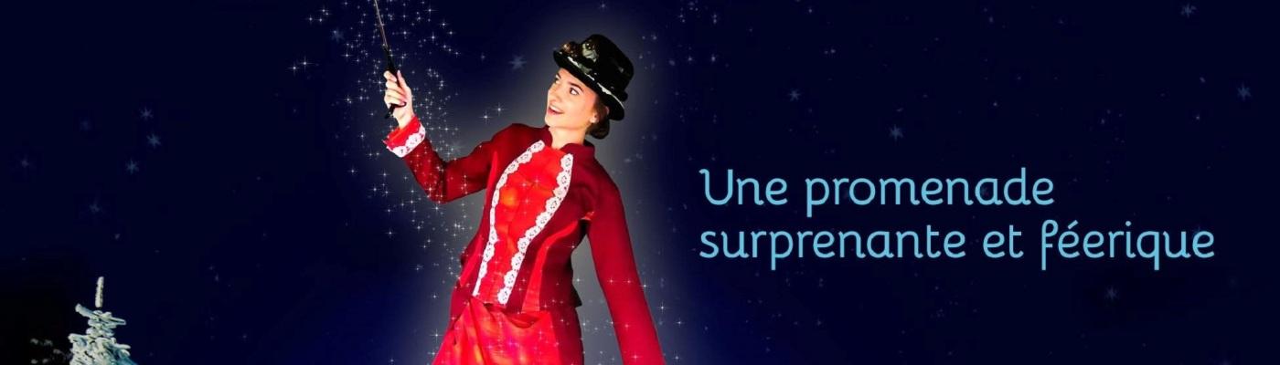 Affiche du Noël au Jardin : Le parapluie magique, Parc de Wesserling