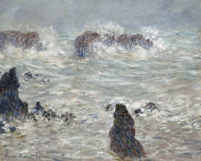 Claude Monet, Côtes de Belle-Île, 1886