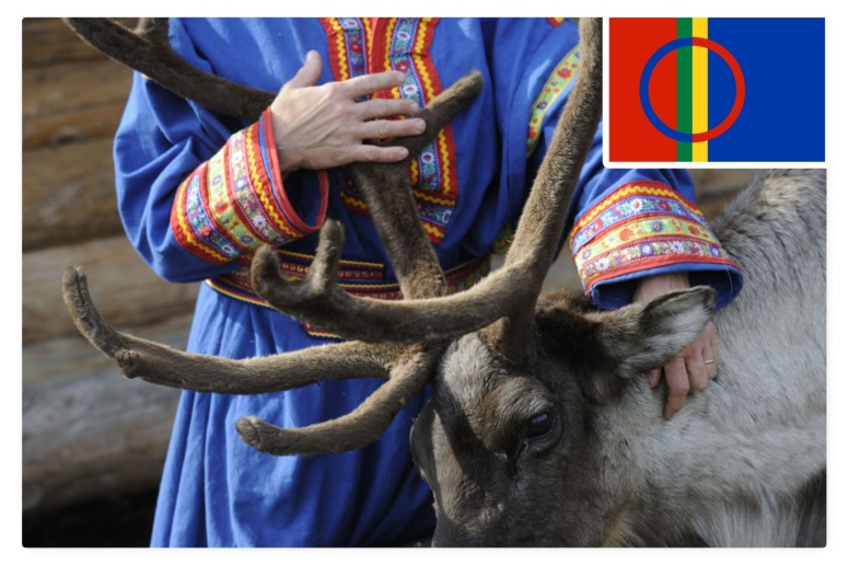 Costume et drapeau sami - photo ©lafermeauxrennes