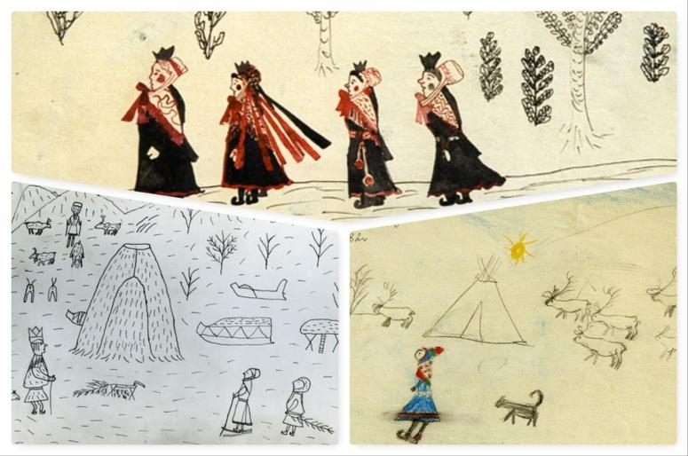 Exemple de trois dessins recueillis par Alan Borvo - ©samiland.free.fr