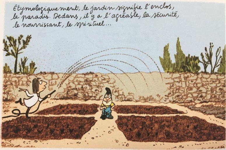 """Catherine Meurisse, extrait des """"Grands Espaces"""", Dargaud, 2018 © Catherine Meurisse & Dargaud"""