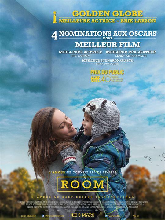 Room, un film de Lenny Abrahamson, avec Brie Larson et Jacob Tremblay, sorti le 9 mars 2016.