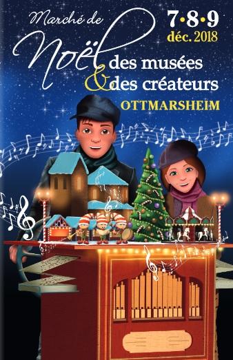 Marché de Noël des musées et des créateurs, Ottmarsheim, du 07 au 09 décembre 2018